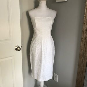 Banana Republic White Strapless Dress